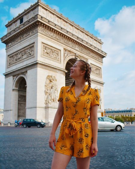 Yellow rose print top and other cute floral jumpsuits http://liketk.it/2T6l1 #liketkit @liketoknow.it