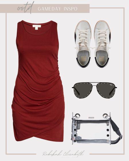 It's gameday! Plus size red + black outfit inspo ❤️🖤 #rebekahelizstyle  #LTKstyletip #LTKcurves #LTKunder50