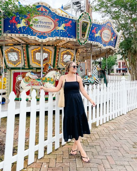 Summer nights & carousel lights. 🎠🎪🎡 Had so much fun in Destin at @baytownewharf - one of my favorite spots!! I wore this perfect summer staple dress that is on sale for $17 with code SOSUMMERY. Wearing and XS #liketkit @liketoknow.it http://liketk.it/3iiDD #LTKsalealert #LTKtravel #LTKunder50