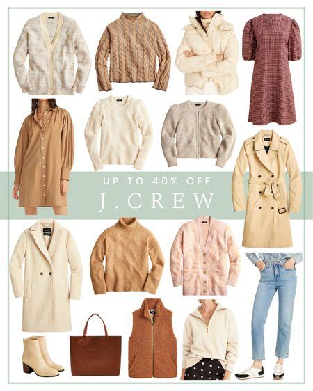 Up to 40% off J.Crew fall essentials   #LTKunder100 #LTKSeasonal #LTKsalealert