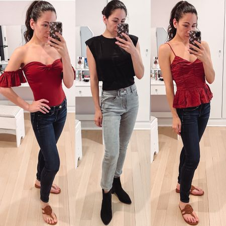 More new express styles including jeans and blouses plus summer to fall transitional styles are all on sale.    #LTKSeasonal #LTKSale #LTKunder50