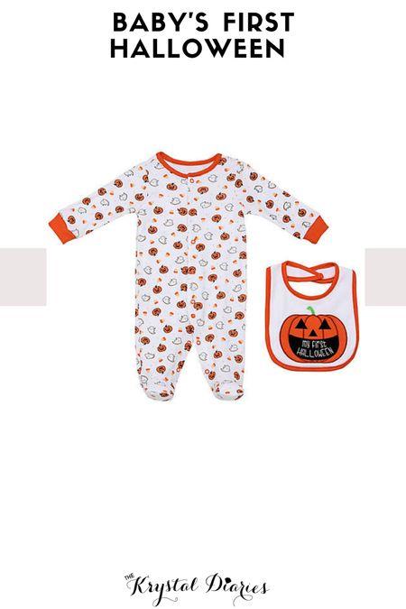 The cutest baby sleeper for their first Halloween!  Halloween + baby + footie pajamas  #LTKunder50 #LTKbaby #LTKstyletip