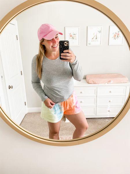 Today's colorful, casual look! $18 tee, $12 shorts, $14 hat and $15 slides! http://liketk.it/3g0F1 #liketkit @liketoknow.it #LTKsalealert #LTKstyletip #LTKunder50