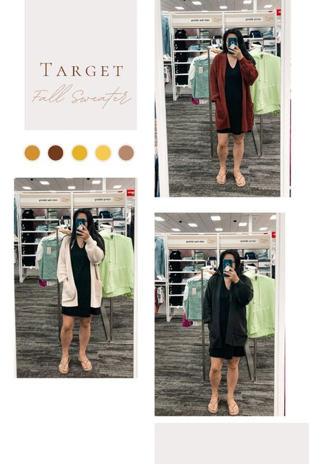 Found my cozy cardigan for the season @target!  Comes in 5 colors but these 3 are my fav.  This cardigan is oversized so size down if you want it more fitted.    #LTKsalealert #LTKstyletip #LTKSeasonal