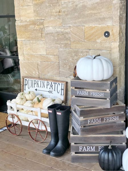 H O M E \ Is your porch ready for #fall ?🍂 Pumpkin patch this way!!🙋🏻♀️  #falldecor #fallporch #porch #pumpkin #target #targethome #targetfind  #LTKSeasonal #LTKunder50 #LTKhome