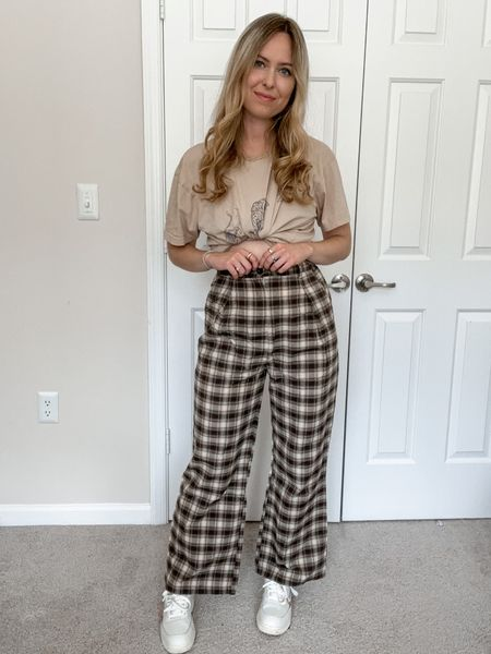 Pants are brown multicolor, I am 5'6 in size s