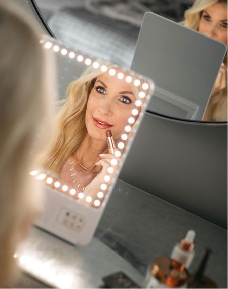 My all-time favorite lighted make-up mirror ever is part of the NSALE! It has 3 light settings and I honestly can't do my makeup without it!!  I linked this mirror plus tons of other amazing beauty products all part of the NSALE! @liketoknow.it #liketkit http://liketk.it/3k6z7 Shop my daily looks by following me on the LIKEtoKNOW.it shopping app  Follow my shop on the @shop.LTK app to shop this post and get my exclusive app-only content!  #liketkit #LTKunder100 #LTKsalealert #LTKbeauty @shop.ltk http://liketk.it/3k6z7