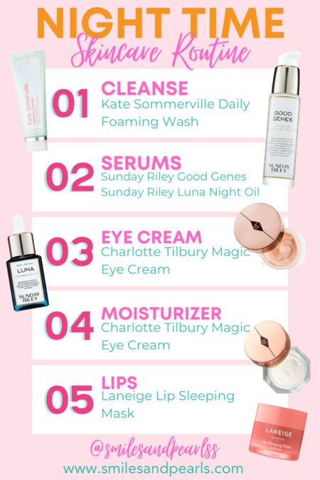 Sephora sale! Here's my night time skincare routine. Use code: OMGSPRING for a discount!   #LTKcurves #LTKbeauty #LTKSpringSale