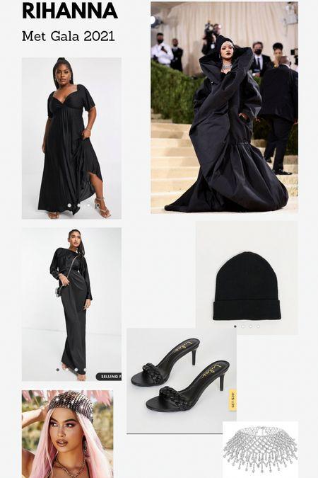 Halloween costume: Rihanna Met Gala look 2021  All black outfit   #LTKHoliday #LTKsalealert #LTKunder100
