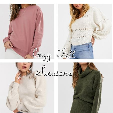 Perfect Oversized Cozy Fall Sweaters. Olive Sweater, Nude Pink Sweater, Cream Sweater, Comfy & Warm #  #LTKunder100 #rStheCon #LTKunder50