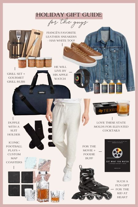 Holiday gift guide for the guys! Sharing gift ideas for boyfriends, husbands, dads, brothers and more! http://liketk.it/33DVi #liketkit @liketoknow.it #LTKgiftspo #StayHomeWithLTK #LTKunder100