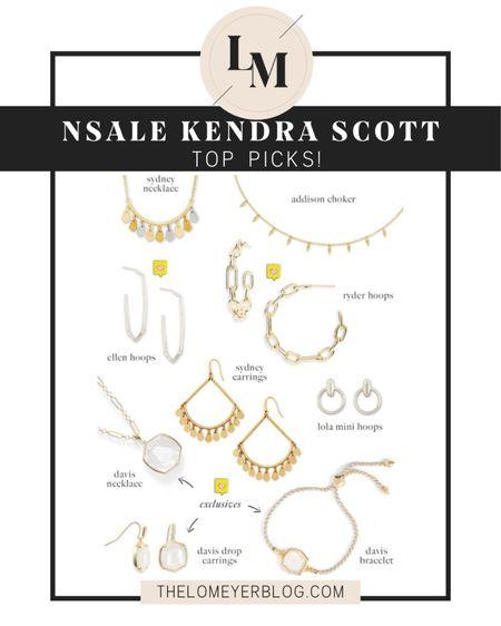 Nordstrom Anniversary Sale! Kendra Scott top picks! http://liketk.it/2THYI @liketoknow.it #liketkit #LTKsalealert #LTKunder100 #LTKunder50 NSALE | bracelet | necklace | earrings | choker | hoops