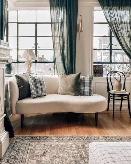 Bedroom decor, bedroom furniture, curtains, lamp, chair, fall decor, home decor    #LTKhome #LTKunder100 #LTKunder50