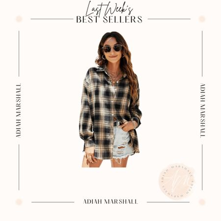 Oversized Flannel  Size Small   #LTKunder50 #LTKSeasonal #LTKfit