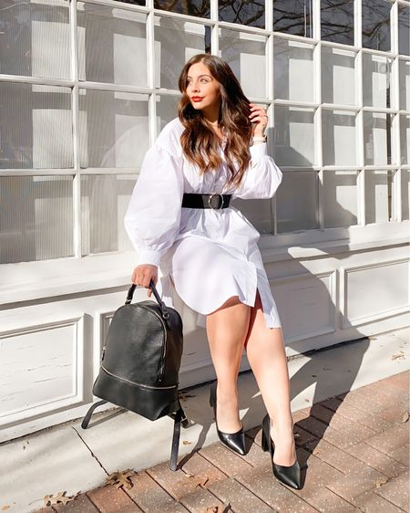 These are the vibes I want to carry into 2021: sunshine, happiness, confidence, and puff-sleeved outfits perfectly accessorized with @justfabonline shoes & bags [#justfabpartner] 🖤 Yeah, I know that the calendar changing over to a fresh year doesn't everything happening right now but, dang, it feels refreshing to get a symbolic fresh start. Like this look?? Screenshot to shop on @liketoknow.it or head to my stories for the swipe up! And, as always, feel free to DM me if you want any direct links 🛍 By the way, this backpack is plenty big for my MacBook Pro & lots more!  Psst... please remember we are still in a pandemic and your NYE activities should reflect that 😘   http://liketk.it/34VtR #liketkit #LTKNewYear #LTKunder50 #LTKshoecrush