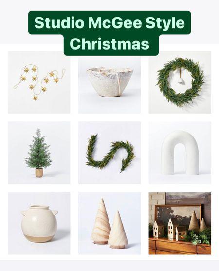 Christmas Holiday decor from Target. Studio McGee Christmas decor style   #LTKSeasonal #LTKHoliday #LTKGiftGuide