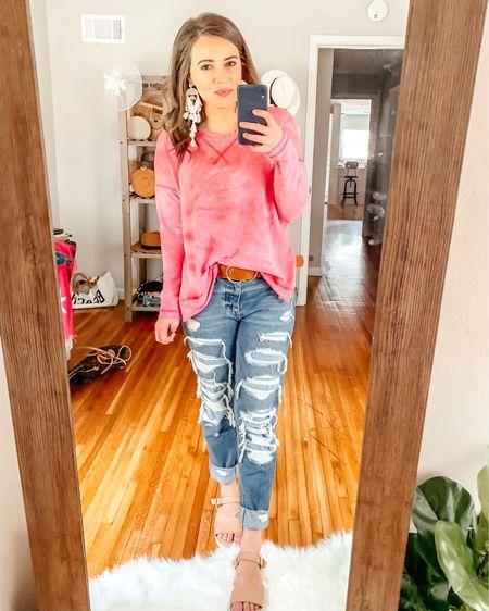 Red Dress Boutique try on - hot pink tie dye pullover. wearing size small, very roomy & comfy! There's slits up the sides so it moves easily with you http://liketk.it/2D25H @liketoknow.it #liketkit #LTKsalealert #LTKshoecrush #LTKspring #LTKstyletip #LTKswim #LTKtravel #LTKunder100 #LTKunder50
