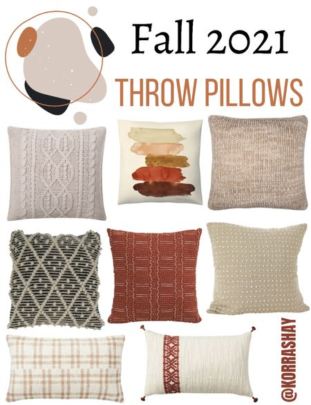 Fall 2021 throw pillows!   •••••••••••••••••  Fall home decor, fall pillows, autumn pillows, autumn throw pillows, 2021 fall home decor finds   #LTKhome #LTKSeasonal #LTKunder100