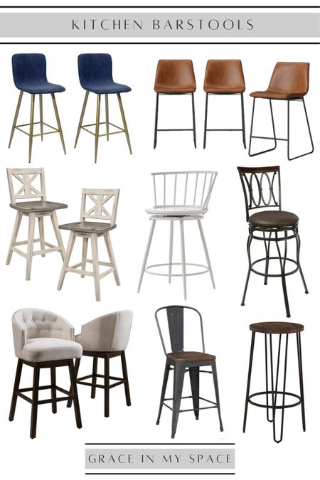 Check out these gorgeous kitchen barstools!