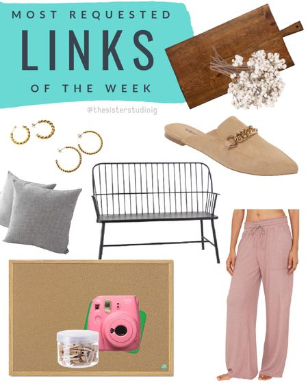 Most requested links of the week. http://liketk.it/2Wu6Z @liketoknow.it #liketkit  Home decor. Pajamas. Mules. #LTKstyletip #LTKunder50