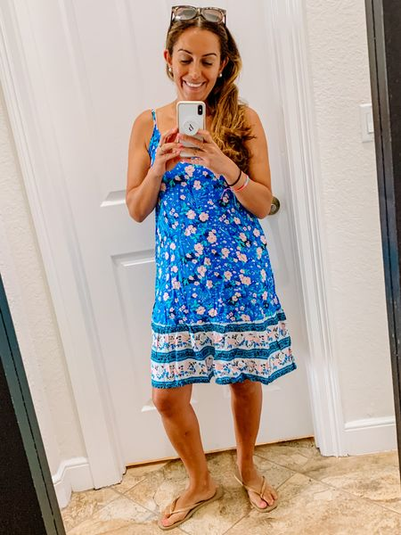Here's another fun & flirty Amazon find perfect for picking up the kids or running to the store! Love the blue and floral design! 👗😍  #LTKfamily #LTKstyletip #LTKunder50