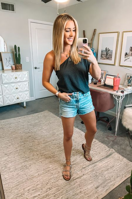 Love this top!! It's part of a set from free people and runs true to size. My shorts are an Amazon find! They run small. Size up one size. #liketkit @liketoknow.it http://liketk.it/3hUTi #LTKunder100 #LTKunder50 #LTKstyletip
