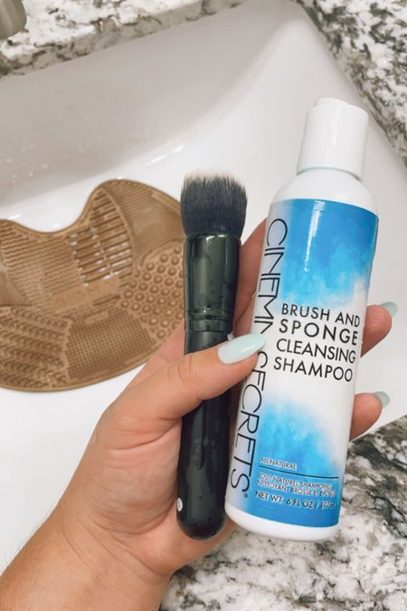 what i use to clean my makeup brushes!   #LTKunder50 #LTKbeauty