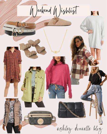 My weekend wishlist - Gucci bag, quilted purse, shacket, dresses, vest, belts, shoes + more!   #LTKSeasonal #LTKstyletip #LTKshoecrush