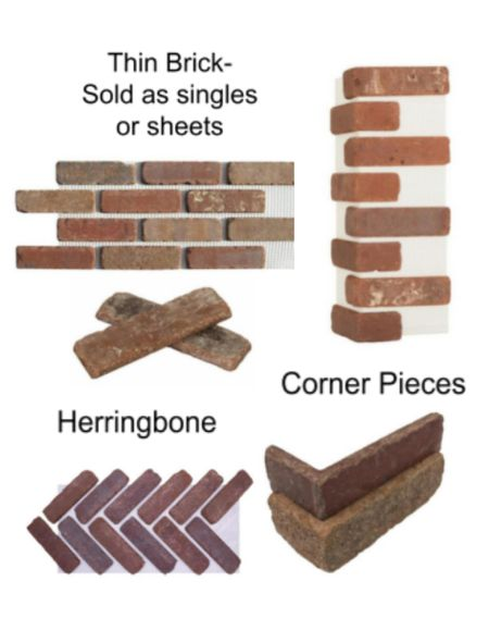 Old Mill thin brick!  Comes in lots of different colors! Im using the Rivera color. If it's not available at your Home Depot ask the pro desk! Available in sheets or single pieces. I am using single pieces for the corners and the flats and then sheets for herringbone! Front porch   #LTKhome