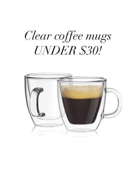 AMAZON HOME FINDS! Clear coffee mugs for UNDER $20! Ordering these for my new kitchen! #amazonfinds #liketkit #LTKhome #LTKunder50 @liketoknow.it http://liketk.it/36rSv