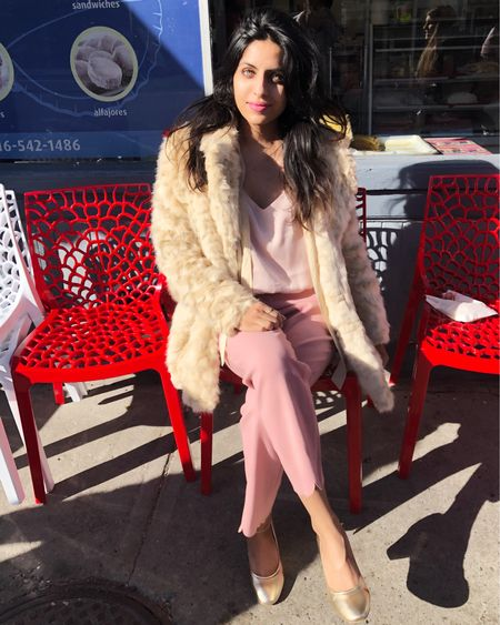 I love my scalloped trimmed pants matched with a cute silk cami and my fur jacket. If you would like a similar look shop @liketoknow.it #liketkit http://liketk.it/2xQ9o