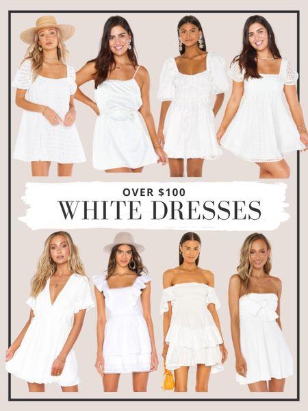 Our favorite white dresses over $100! http://liketk.it/3g2ts #liketkit @liketoknow.it #whitedresses #minidress