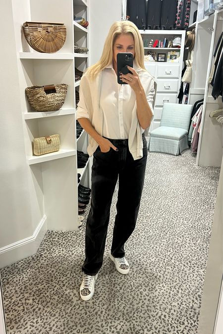 Casual Saturday look!  Size 8 blouse. Jeans fit TTS  #LTKstyletip