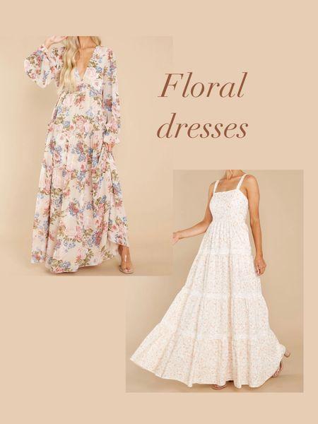 Floral maxi dresses Wedding dress Shower dress Red dress   #LTKunder100 #LTKstyletip #LTKwedding