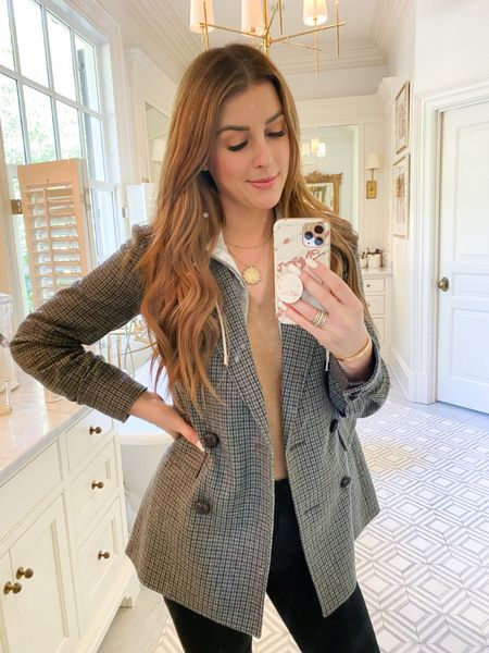 Starting the week right in one of my favorite purchases for fall. This jacket has hidden zippers that allow you to zip in a hoodie dickey. You get the look of layers without all the added bulk!     #LTKSeasonal #LTKHoliday #LTKstyletip