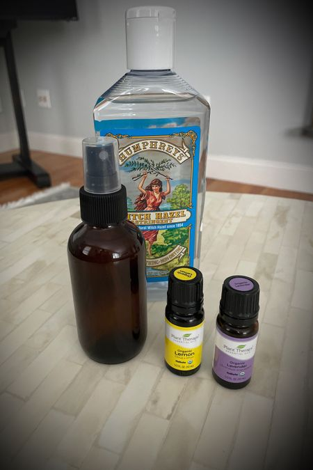 DIY linen spray. 10 drops of lavender essential oil, 10 drops of lemon essential oil, 1/8 cup of witch hazel, fill rest of 4 oz. bottle with distilled water. http://liketk.it/3kmHK #liketkit @liketoknow.it @liketoknow.it.home Shop your screenshot of this pic with the LIKEtoKNOW.it shopping app