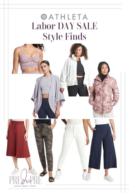 Enjoy your Labor Day weekend with some great sale finds. Read more about it at my blog, www.predupre.com  http://liketk.it/3n4vc  Active wear, cardigan, jacket, bomber jacket, pleated skirt, skirt, camouflage joggers, joggers, pants, white pants, wide leg pants, fall season, fall staples, fall looks, fall shoes  #LTKsalealert #LTKSeasonal #LTKstyletip