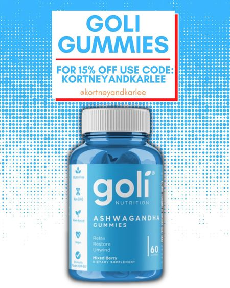 Goli Ashwagandha gummies! Use code KORTNEYANDKARLEE for 15% off!   Goli gummies | AVC | ACV gummies | apple cider vinegar gummies | Ashwagandha gummies | Goli sale | Kortney and Karlee | #kortneyandkarlee #LTKunder50 #LTKunder100 #LTKsalealert #LTKstyletip #LTKSeasonal #LTKfit @liketoknow.it #liketkit