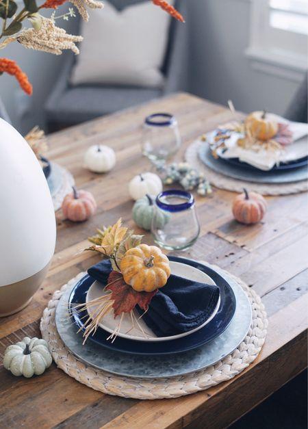 Fall decorations home decor dining table tablescape dinnerware   #LTKSeasonal #LTKhome #LTKunder50