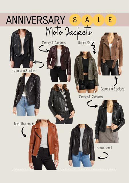 Nordstrom Anniversary Sale / Moto jacket / fall jacket / outerwear / leather jacket / #nsale  #LTKSeasonal #LTKsalealert #LTKstyletip