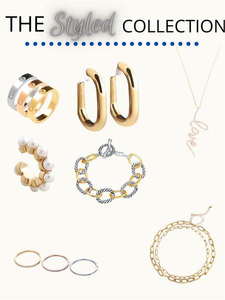 The Styled Collection - 30% off  Jewelry inspo / earrings / pendant necklaces/ bracelets / stackable rings   #LTKsalealert #LTKSale #LTKunder50