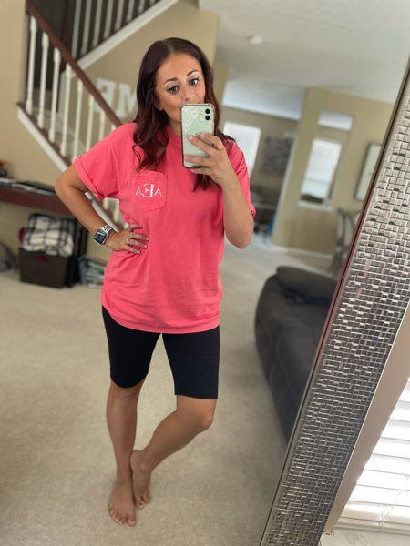 Customized monogrammed pocket T-shirt! I got a size Large for an oversized fit   #LTKunder50
