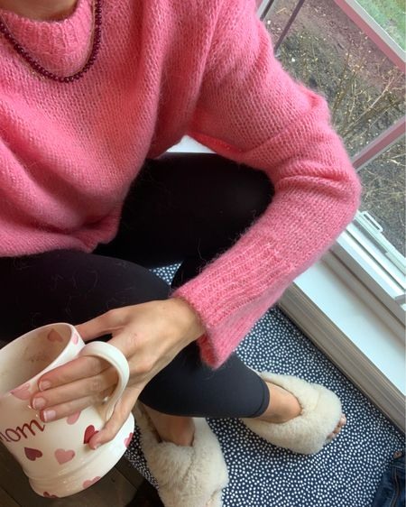 The rain today just felt like way too much today. So changed my sweats to a pink sweater, threw on a necklace, and made another cup of coffee. Because little things are all we have. And you know what, it worked a little. Hope you're hanging in there, friends. Would love to hear your little things today too. #StayHomeWithLTK #LTKunder50 #liketkit @liketoknow.it http://liketk.it/2NDLa
