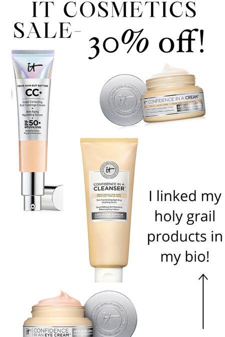 It cosmetics 30% off Cc cream Moisturizer  Facial cleanser  Eye cream   http://liketk.it/3h4nr #liketkit @liketoknow.it #LTKsalealert #LTKDay #LTKbeauty