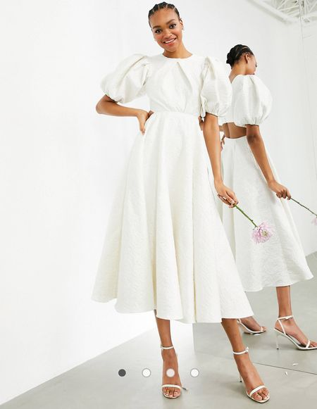 Looking for an affordable wedding dress? I gotcha! This one is from ASOS and it's so beautiful! I tagged this and other affordable cute wedding dresses below!   #LTKwedding #LTKfamily #LTKeurope