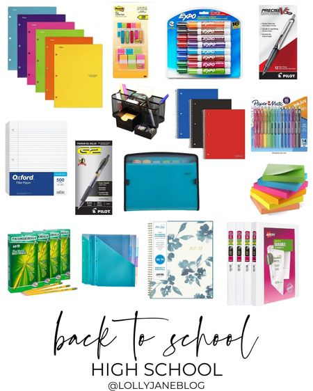 Back to school high school supplies!  Lilly Jane Blog | #LollyJaneBlog #LTKunder100 #LTKunder50 #LTKkids @liketoknow.it #liketkit http://liketk.it/3jQO7