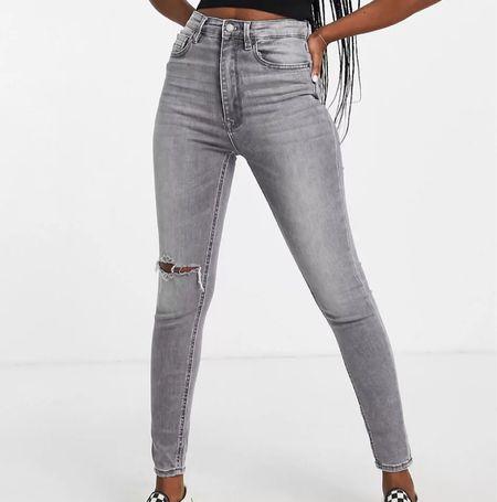 Gray high waisted jeans    #LTKstyletip #LTKsalealert #LTKSeasonal