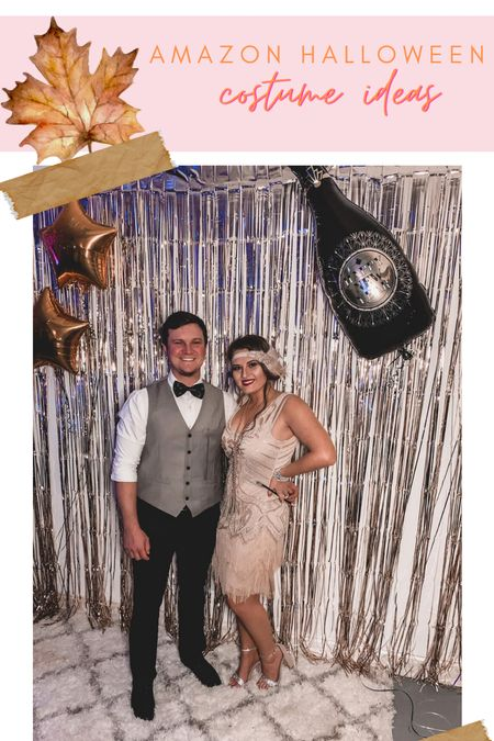 Halloween couples costumes roaring 20s party flapper girl gatsby