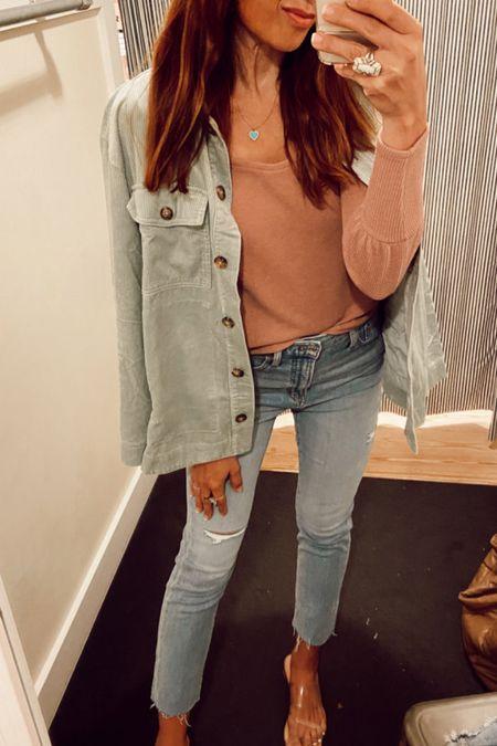 Vintage jeans and corduroy shirt on sale!!   #LTKHoliday #LTKSale #LTKstyletip