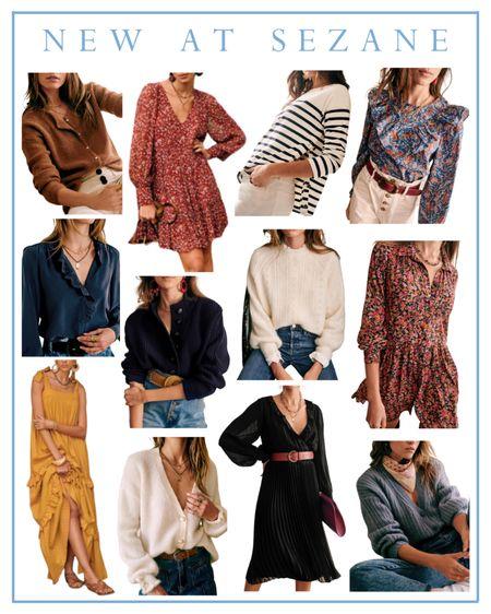 Sézane new fall arrivals, sweaters, fall dresses  #LTKSeasonal #LTKstyletip